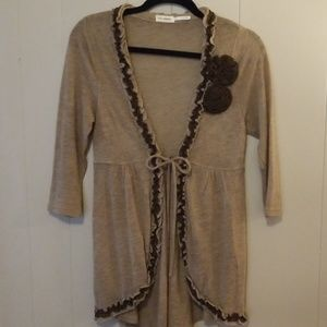 Tan and Brown light weight sweater